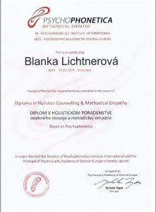 Diplom v holistickom poradenstve